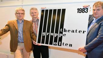 Daniel Tröhler, Daniel Hoch und Mike Müller (vl) haben es mit der Theatergruppe weit gebracht.