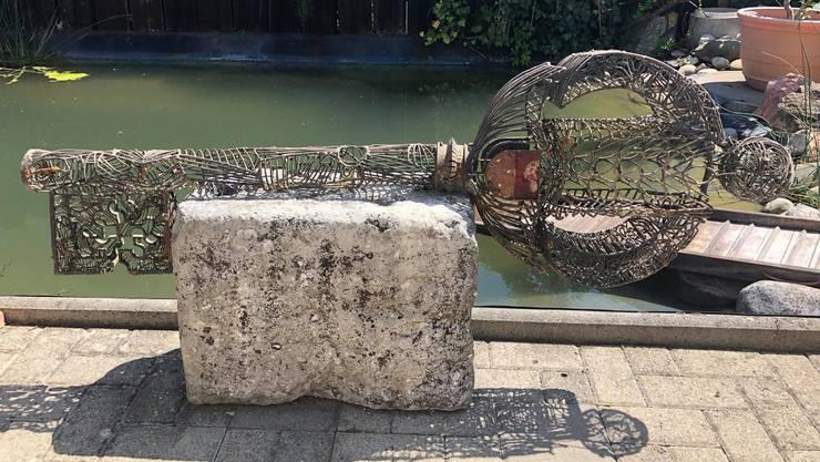 Die Tochter von Michel Maire hat diesen Schlüssel in der Aare bei Berken entdeckt.