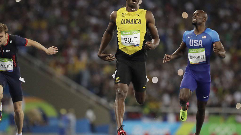 Usain Bolt blieb auch über 200 m unangefochten
