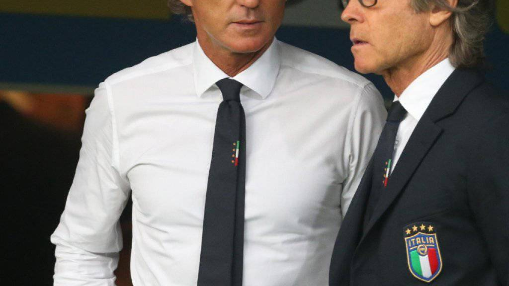 Italiens Nationalcoach Roberto Mancini hat noch einige Arbeit vor sich