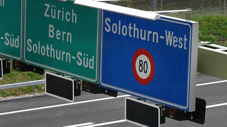 Tempolimiten auf der Autobahn A5