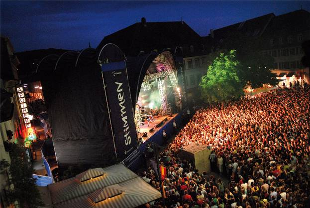 Stimmen-Festival: «Eines der grössten Festivals der Nordwestschweiz.» Die Eigenwerbung ist leicht untertrieben: Das Festival ist das grösste in der Region.