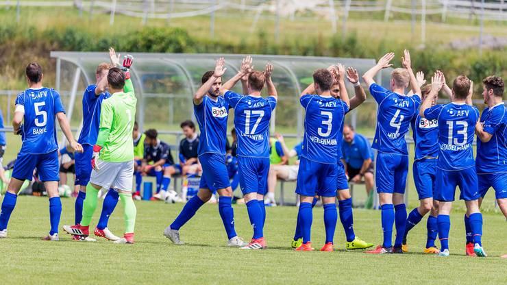 Die Aargauer Auswahl vor Spielbeginn