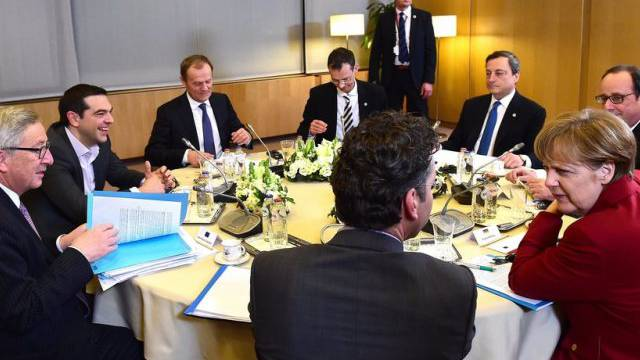 Runde Sache: Treffen in der Griechenland-Frage in Brüssel