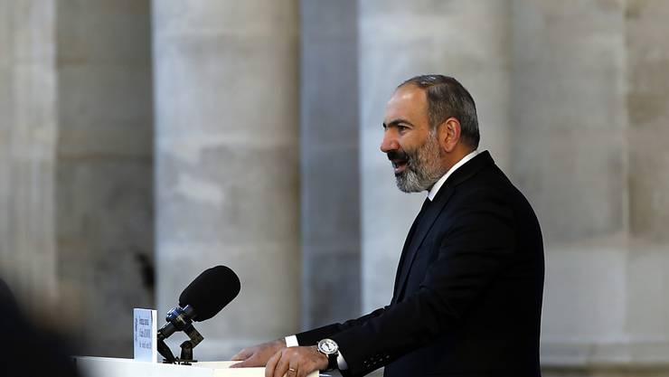 Der armenischen Ministerpräsident Niko Paschinjan kann die Auflösung des Parlaments seines Landes als Erfolg verbuchen. (Archiv)