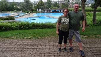 Das neue Kiosk-Pächterpaar in der Badi Geren