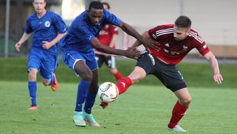 Der FC Grenchen (blau) vermochte den Gegner aus Lenzburg nicht zu stoppen. (Archiv)