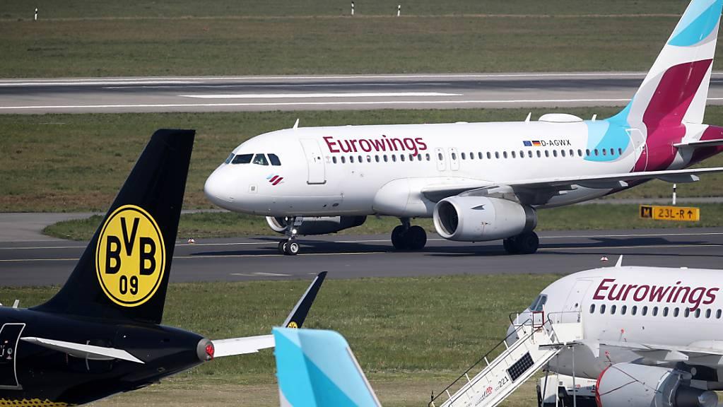 Eine Maschine von Eurowings durfte in Sardinien nicht landen (Archivbild).