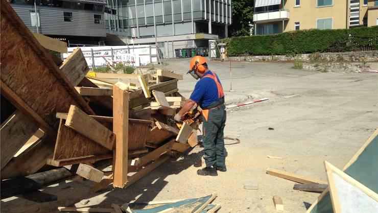 Die Kosten für die Aufräumarbeiten belaufen sich auf 5000 bis 10000 Franken. lb
