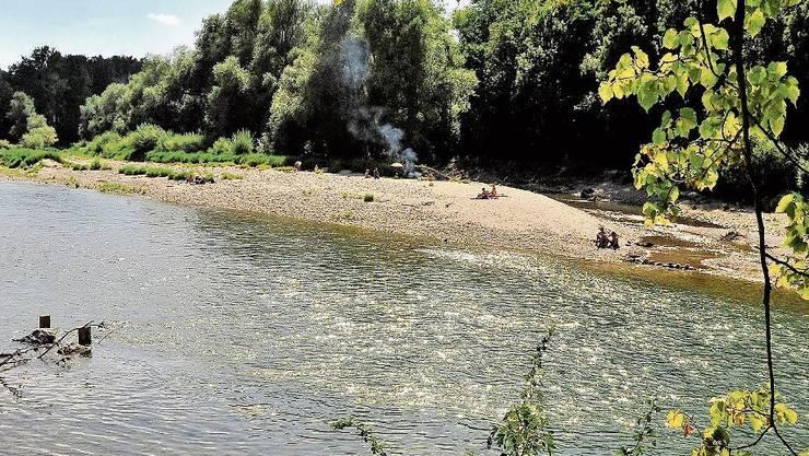 Aus der Spass: Die Sandbänke an der Aare dürfen zwischen Aarau und Schönenwerd nicht mehr betreten werden.
