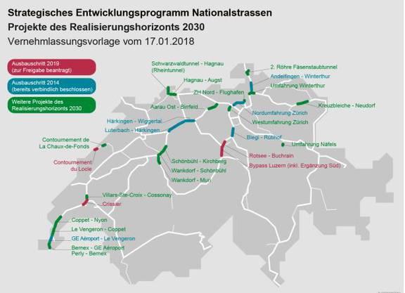 Hier will der Bund die Autobahnen ausbauen