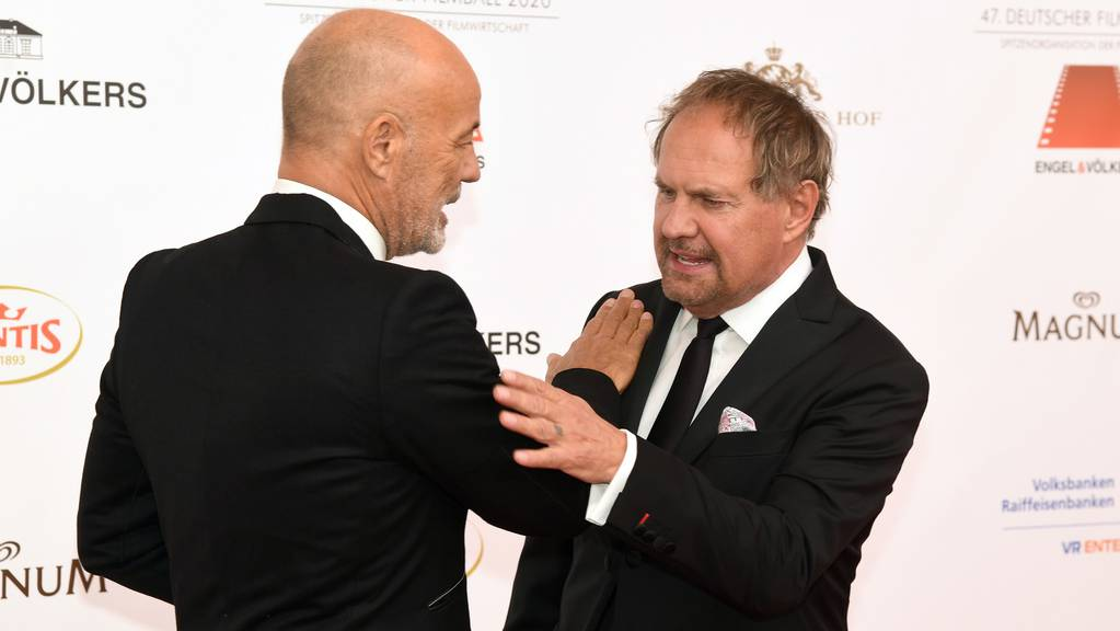 Seit den 1980er Jahren sind die beiden Schauspieler Uwe Ochsenknecht (rechts) und Heiner Lauterbach (links) miteinander befreundet: «So eine Freundschaft ist selten in unserer Branche», freut sich Ochsenknecht. (Archivbild)