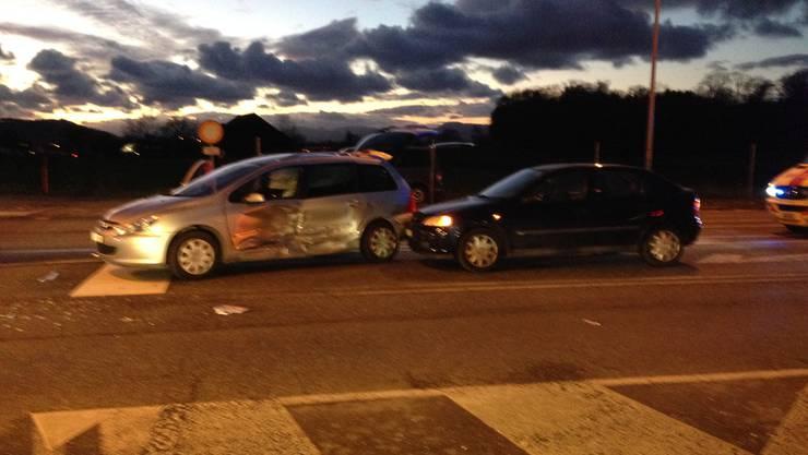 Verkehrsunfall in Lenzburg an Weihnachten.