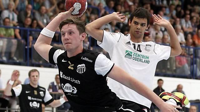 Action im Schweizer Handball