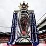 Die Trophäe für den Gewinn der Premier League