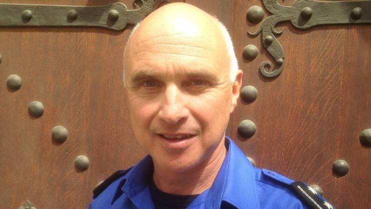 Max Romann, stellvertretender Kommandant der Stadtpolizei Baden.