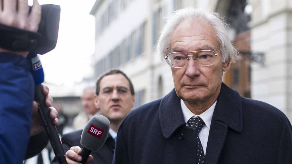 Das Bundesgericht lehnte seine Beschwerde ab: Rolf Erb nach der Urteilsverkündung des Zürcher Obergerichts am 15. Januar 2014. (Archiv)