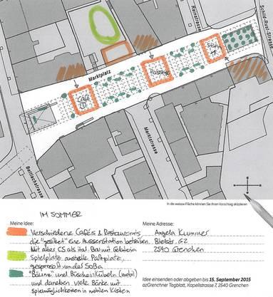 Auch auf einen Stadtplan konnte man zeichnen (Angela Kummer)