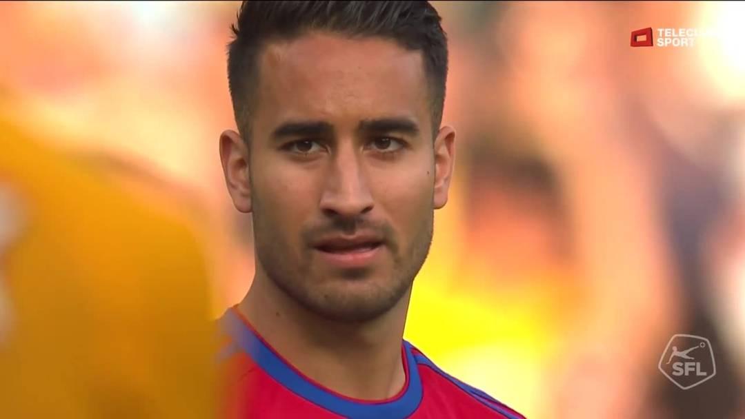 YB- FCB, 86. Minute: Schuss von Samuele Campo (FC Basel 1893)