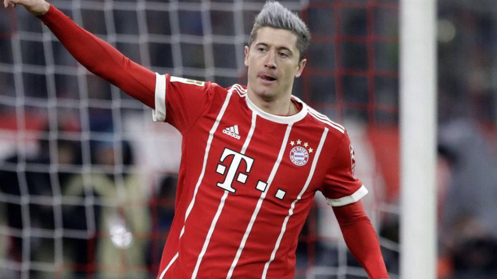 Robert Lewandowski schiesst Bayern München mit seinem 15. Bundesliga-Saisontor gegen Köln zum Sieg