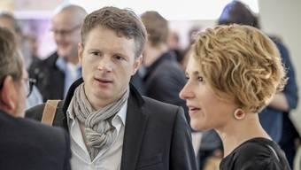 Bald wieder Konkurrenten? Alt Nationalrat Jonas Fricker (links, mit Schal) und Nachfolgerin Irène Kälin (rechts).