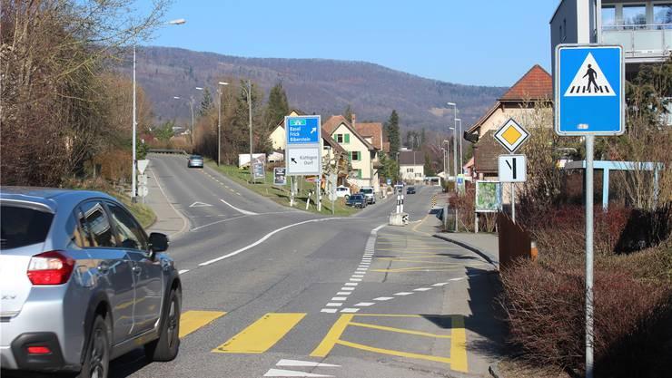 Eine der Strassen, auf denen Tempo 30 für zwei Tage eingeführt wird, ist die Bibersteinerstrasse in Küttigen.