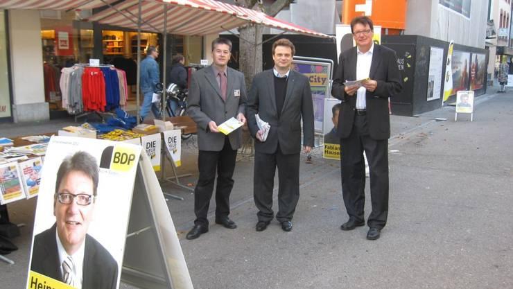 Fabian Hauser, Michael Merkli und Heinz Graf (von links nach Rechts)