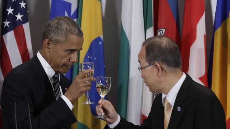 Zwei die bald abtreten: US-Präsident Barack Obama (l) und UNO-Generalsekretär Ban Ki Moon