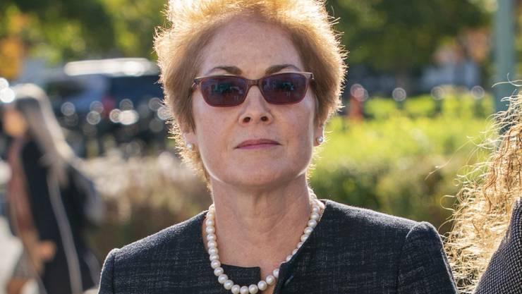 """War """"schockiert"""": Die frühere US-Botschafterin in Kiew, Marie Yovanovitch, fühlte sich durch ein Telefongespräch von Präsident Donald Trump bedroht. (Archivbild)"""