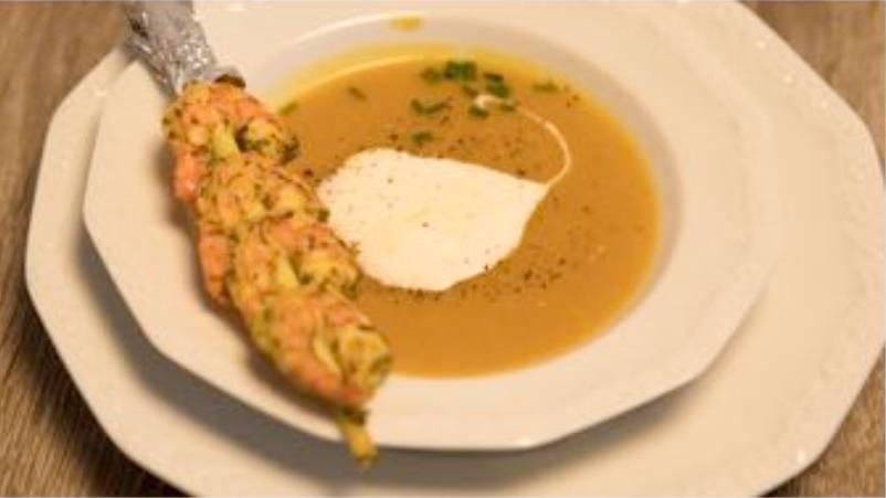 Kürbis-Mango-Suppe