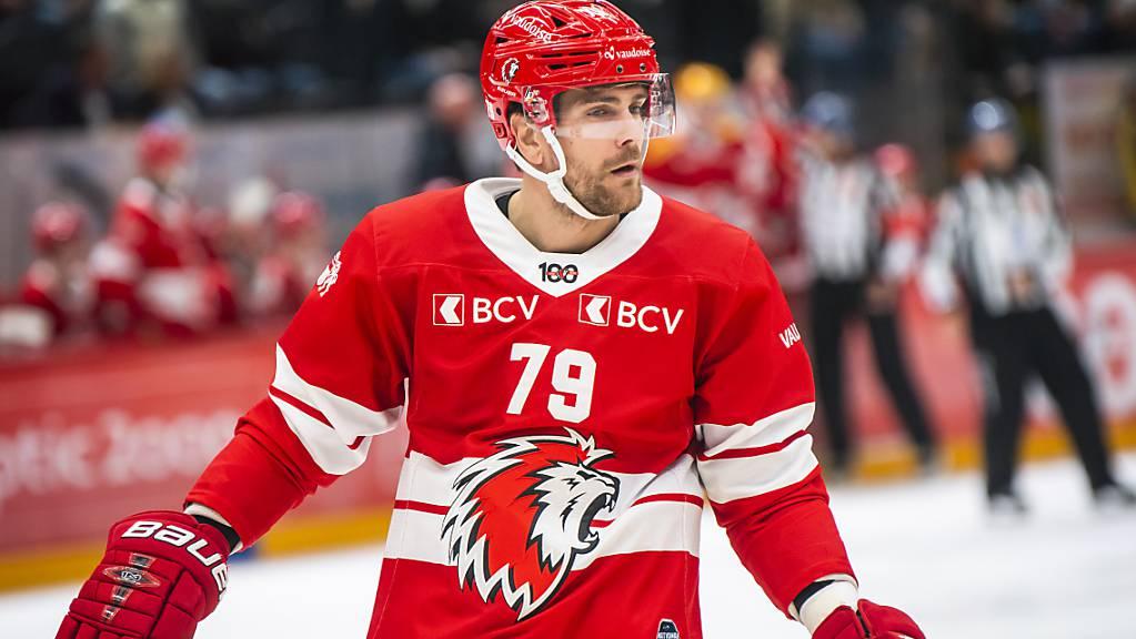 Trägt drei weitere Saisons das rote Trikot des Lausanne Hockey Club: Verteidiger Joël Genazzi