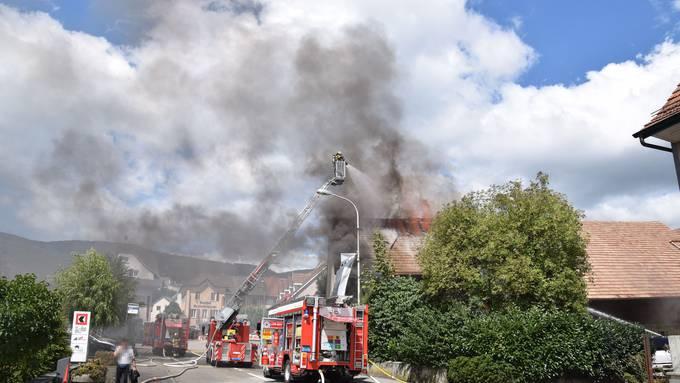 Dachstockbrand in Hägendorf (21. August 2019)