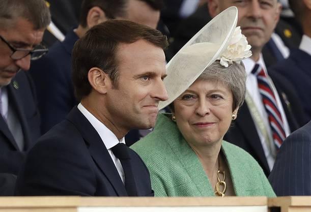 Die scheidende britische Premierministerin Theresa May (rechts) und Frankreichs Präsident Emmanuel Macron.