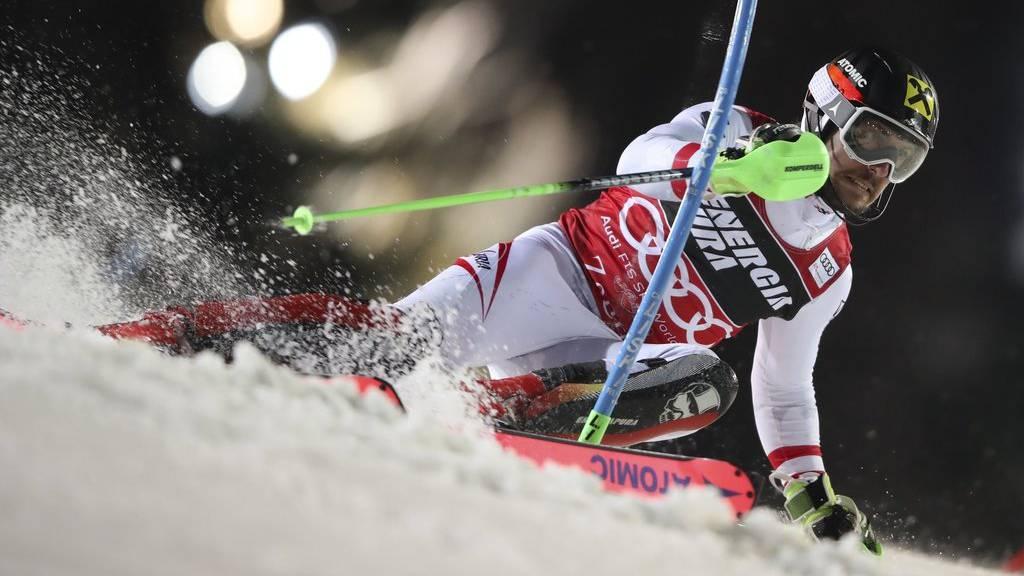 Marcel Hirscher gewinnt den Slalom in Zagreb