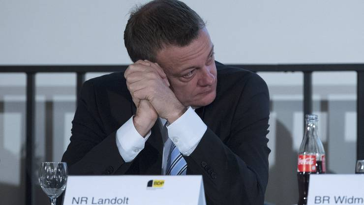 BDP-Parteipräsident Martin Landolt an der Delegiertenversammlung in Thun.