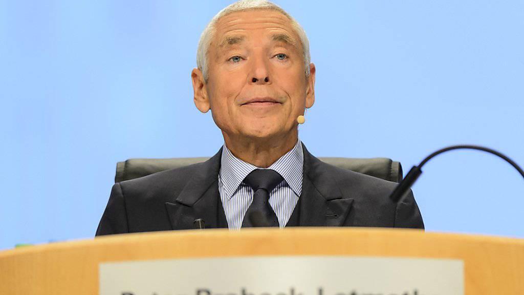 Er sieht die Zukunft von Nestlé nicht bei Pasta und Glace, sondern bei Produkten, welche Ernährung und Gesundheit kombinieren: Peter Brabeck, hier an der Nestlé-Generalversammlung im April.