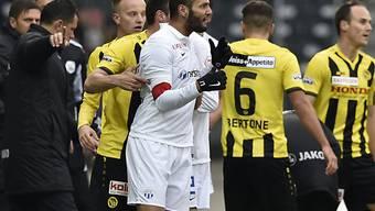 FCZ-Captain Yassine Chikhaoui verlor gegen YB die Contenance