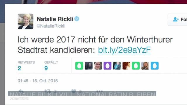 Rickli will nicht in Winterthurer Stadtrat