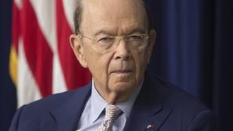 US-Handelsminister Wilbur Ross dreht weiter an der Eskalationsschraube gegen China und lanciert weiter Strafzölle. (Archivbild)