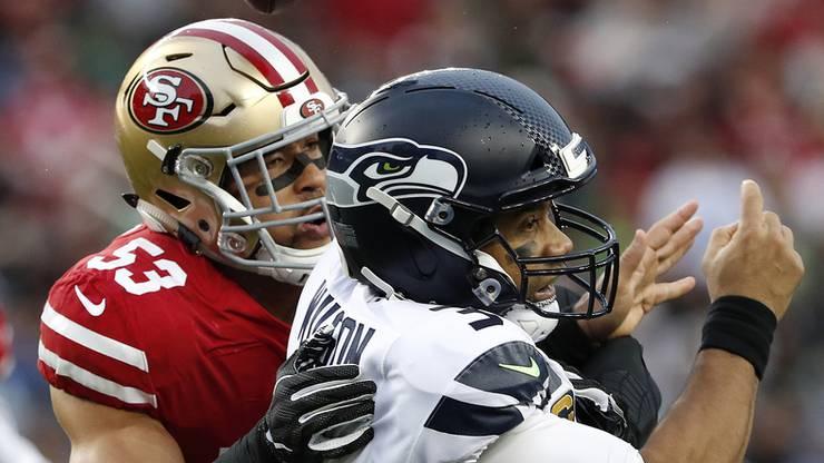 Mit der Nummer 53 will 49ers-Linebacker Mark Nzeocha den Super Bowl gewinnen.