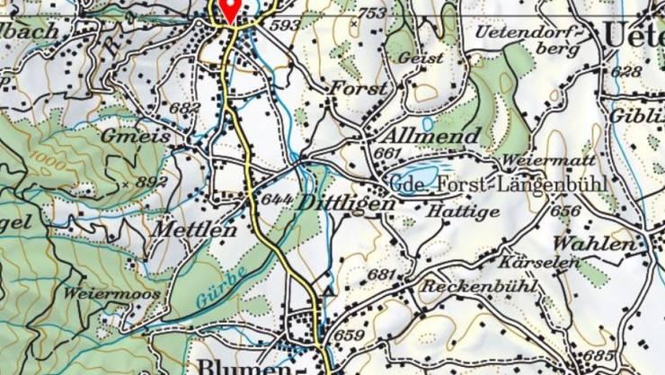 Zwischen Wattenwil und Blumenstein im oberen Gürbetal war die Jugendliche unterwegs, als sie angegriffen wurde.