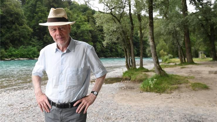Ein Ort zum Nachdenken: Der Schriftsteller Lukas Hartmann geht gerne an die Aare.Andreas Blatter/Berner Zeitung
