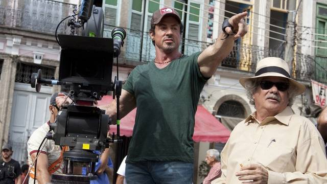 Sylvester Stallone bei den Dreharbeiten für Expendables 1