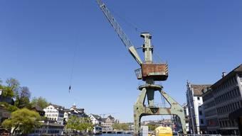 Da stand er noch: Der Zürcher Hafenkran.