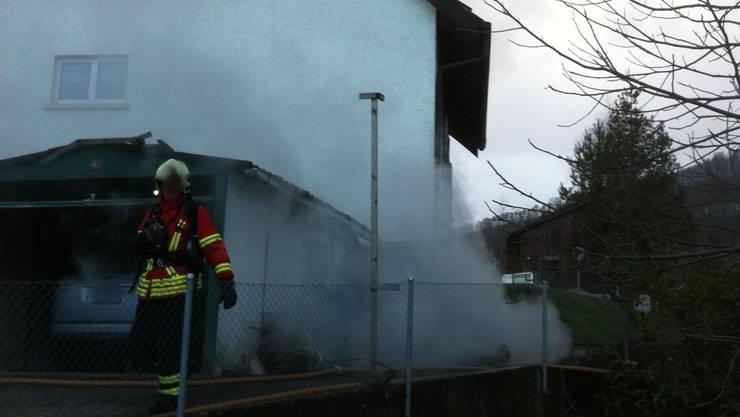 Brand in einem Einfamilienhaus in Bennwil