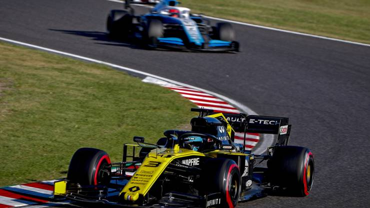 Renault (im Bild Fahrer Daniel Ricciardo) wird nachträglich  in action during the Japanese Formula One Grand Prix in Suzuka, Japan, 13 October 2019. EPA/DIEGO AZUBEL