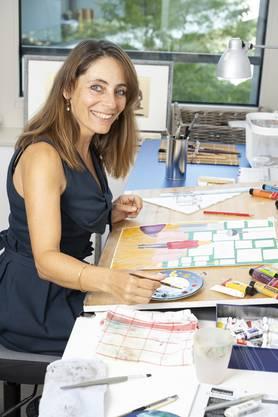 Lorena Valentini arbeitet für ihre Kunstwerke mit verschiedenen Materialien.