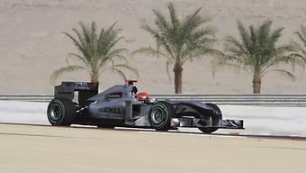 Der GP Bahrain (hier Michael Schumacher 2010) steht auf der Kippe