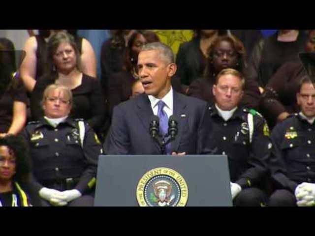 Die Rede von US-Präsident Obama in Dallas