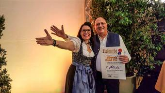 Cordula und Mario nach ihrem erfolgreichen Auftritt am Alpen Grand Prix in Meran. zvg